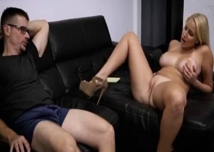 Busty daughter seducing her own dad