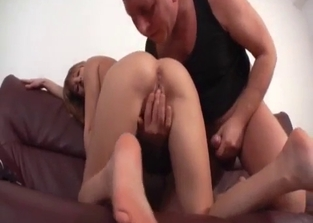 Teen sucking her dad's meaty cock