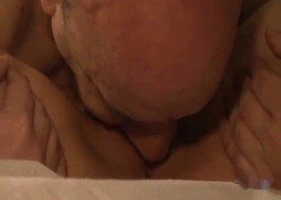 Teen brunette 69-ing with her own dad