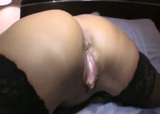 Creepy-ass blonde MILF fucking her nerd son