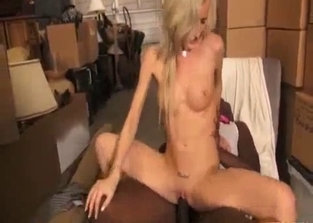 Leggy blonde's step-dad destroys her with his BBC