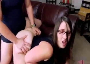 Brunette with a massive ass fucks her hung brother