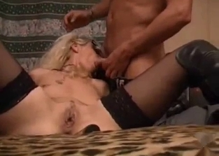 Masked blonde enjoying incest fucking