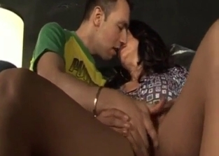Tanned mommy fucking her hung son