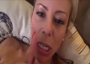 Busty blonde enjoying hardcore with her son