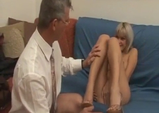 Busty blonde finally gets to fuck her dad