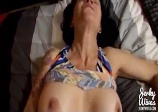 Tatted-up mom annihilated by her son in POV