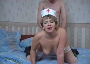 Mom/nurse fucking her drunk-ass son